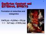 Equilbrium Constant and EXTERNAL EFFECTS