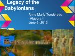 Legacy of the Babylonians