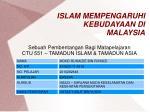 ISLAM MEMPENGARUHI KEBUDAYAAN DI MALAYSIA