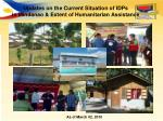 Updates on the Current Situation of IDPs  in Mindanao & Extent of Humanitarian Assistance