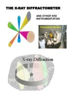 THE X-RAY DIFFRACTOMETER