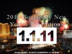 2011 Goals, My New Year's Resolutions