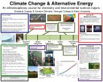 Climate Change & Alternative Energy