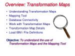 Overview: Transformation Maps
