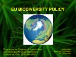 EU BIODIVERSITY POLICY