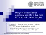 Design of the coincidence processing board for a dual-head PET scanner for breast imaging