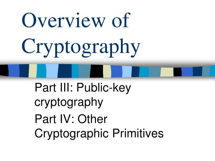 overview of cryptography n.