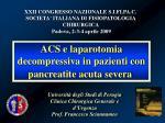 Università degli Studi di Perugia Clinica Chirurgica Generale e d'Urgenza