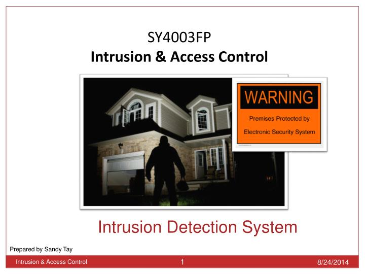 intrusion detection system n.