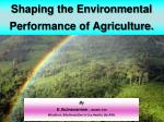 Shaping the Environmental Performance of Agriculture.