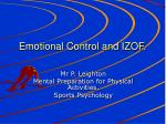 Emotional Control and IZOF.