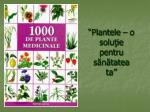 """""""Plantele – o soluţie pentru sănătatea ta"""""""
