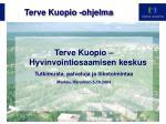 Terve Kuopio -ohjelma