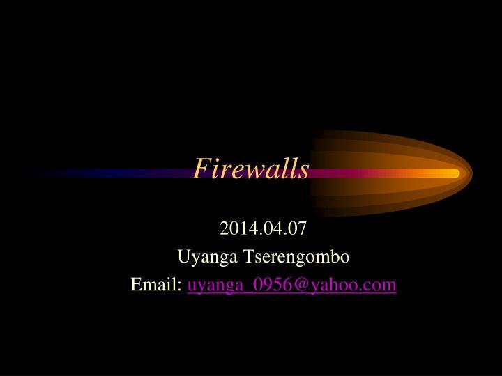 firewalls n.