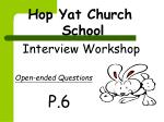 Interview Workshop Open-ended Questions P.6