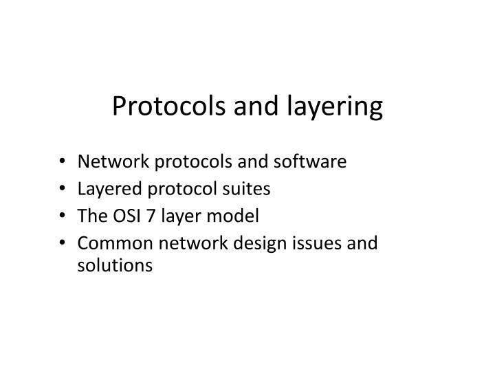 protocols and layering n.