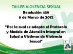 TALLER VIOLENCIA SEXUAL