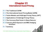 Chapter 21 International Asset Pricing