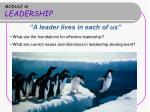 MODULE 16 LEADERSHIP