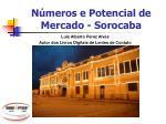 Números e Potencial de Mercado - Sorocaba