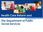 Health Care Reform and