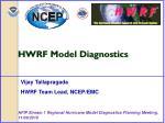 HWRF Model Diagnostics