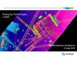 Emerging Technologies… LIDAR
