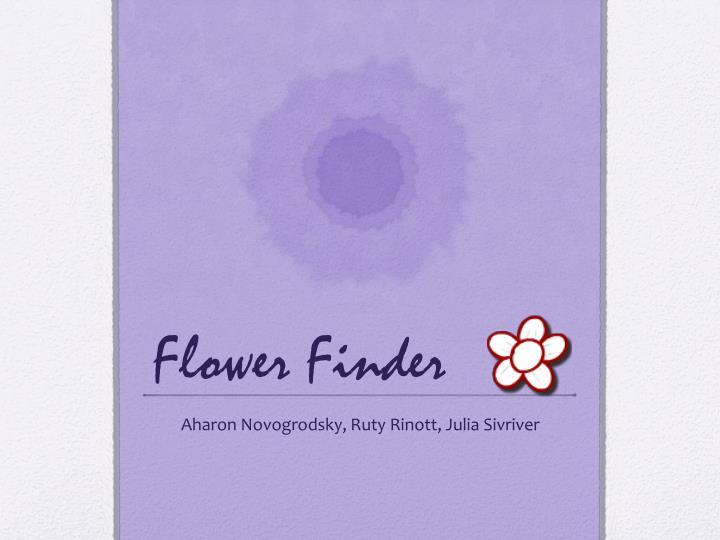 flower finder n.