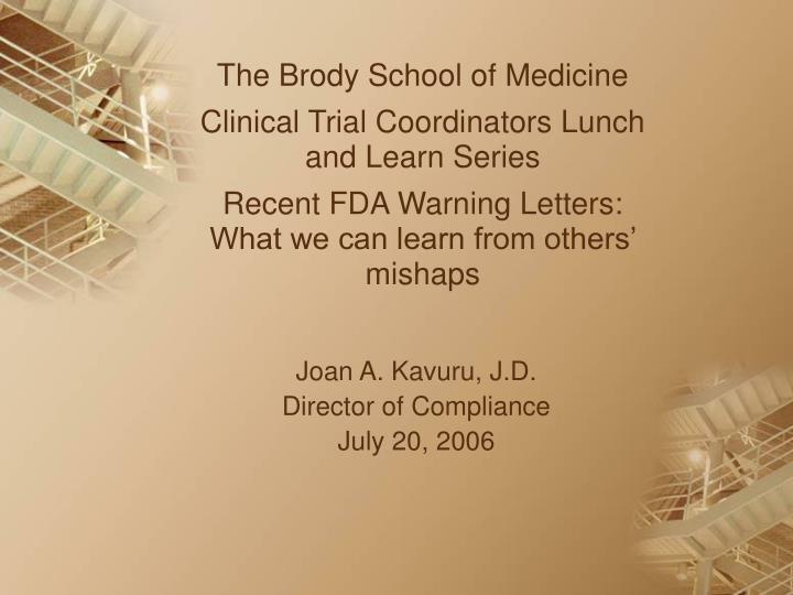 joan a kavuru j d director of compliance july 20 2006 n.