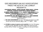 QSO ABSORBER GALAXY ASSOCIATIONS FINDS THE KEYS AT THE LOWEST REDSHIFTS