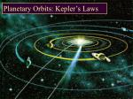Planetary Orbits: Kepler's Laws