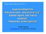 Kolláth György kollath /az előadás már e honlapon/