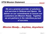 HTSI Mission Statement