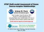HTAP Multi-model Assessment of Ozone Source-receptor Relationships