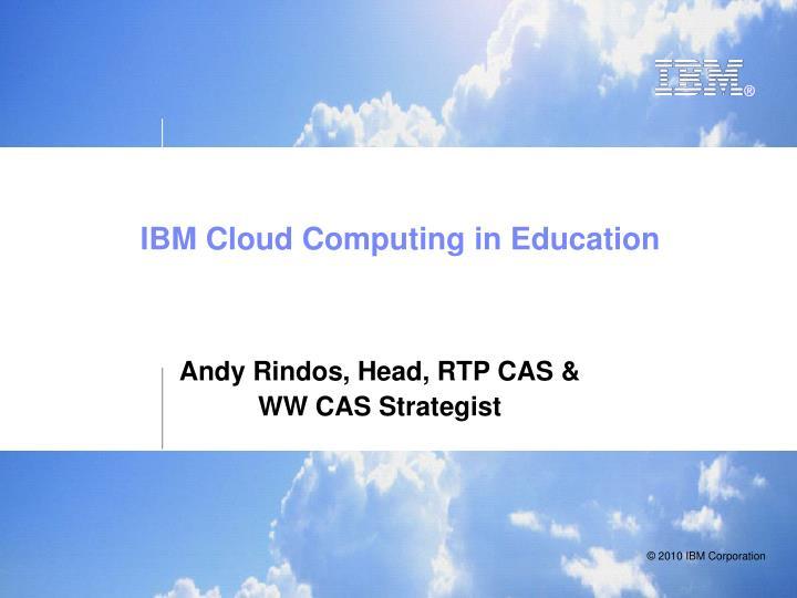 ibm cloud computing in education n.