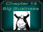 Chapter 14 Big Business