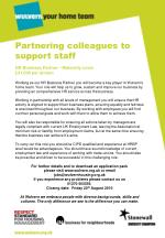 Partnering colleagues to support staff
