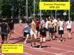 Exercise Physiology MPB 326
