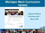 Michigan Merit Curriculum Update