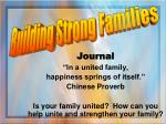 """Journal """"In a united family,  happiness springs of itself."""" Chinese Proverb"""