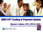 2005  CPT Coding & Payment Update