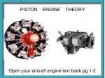PISTON ENGINE THEORY