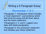Writing a 5 Paragraph Essay
