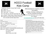 HOCO Football Kids Camp