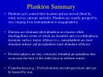 Plankton Summary