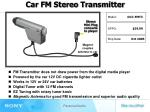 FM Transmitter does not draw power from the digital media player