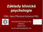 Základy klinické psychologie