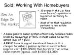 Sold: Working With Homebuyers