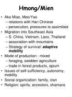 Hmong/Mien