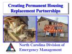 Creating Permanent Housing Replacement Partnerships